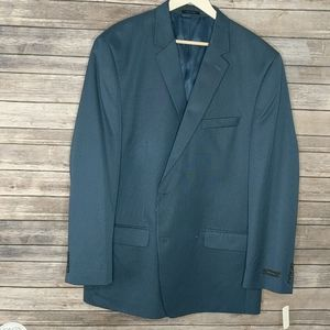 Andrew Fezza NWT Blue Two-Button Suit Jacket 50L